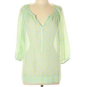 • {LOFT} Green 3/4 Sleeve Top